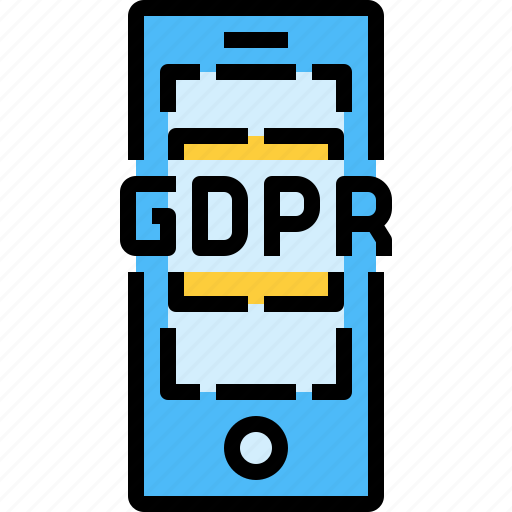data, gdpr, mobile, protection, security, smartphone icon