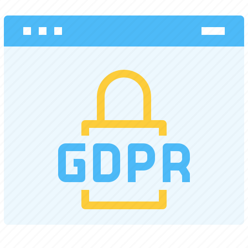 data, gdpr, lock, page, protection, security, web, website icon