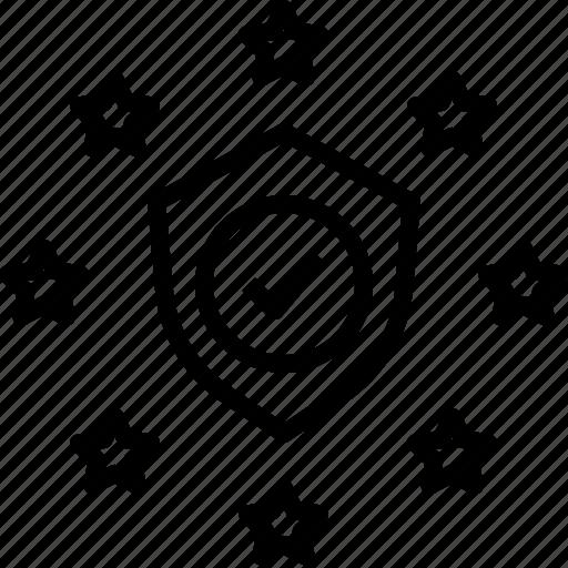 compliance, eu, gdpr, protection, security, shield icon