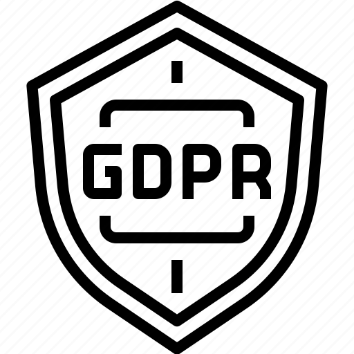 compliance, gdpr, protection, security, shield icon
