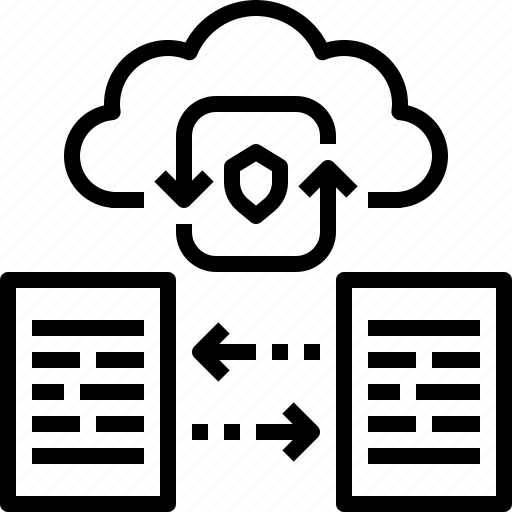 cloud, computing, data, file, network, protection, storage icon