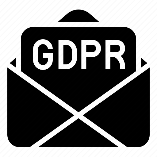gdpr, law, letter, mail, protection, regulation icon
