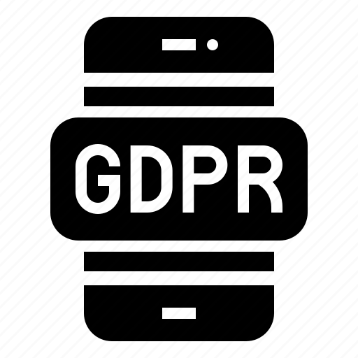 cellphone, gdpr, mobile, protection, regulation icon