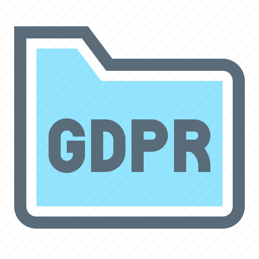 compliance, file, folder, gdpr, law, protection, regulation icon