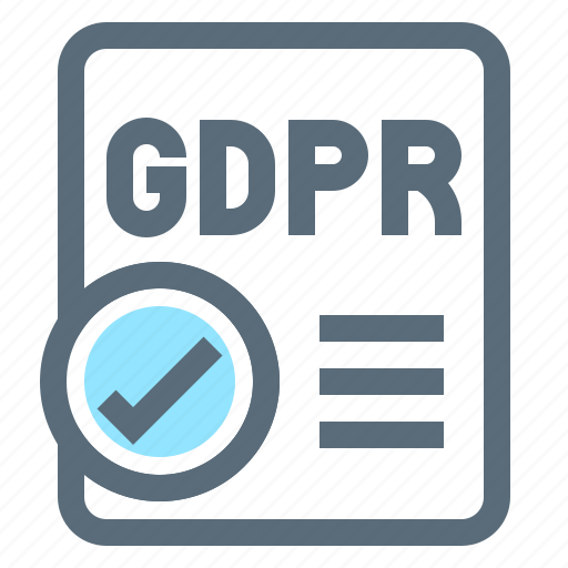 approve, compliance, file, gdpr, law, protection, regulation icon
