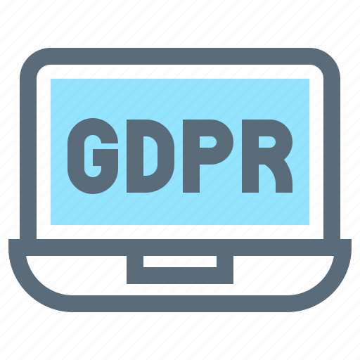 compliance, computer, gdpr, laptop, notebook, protection, regulation icon