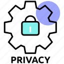 cog, configuration, firewall, preferences, privacy, settings icon