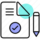 agreement, certificate, data privacy, document, gdpr, legal, policy icon