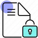 data privacy, folder, gdpr, locked, private, protection icon
