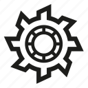 gear, mechanics, settings, wheel icon