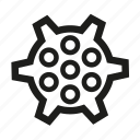cogwheel, engineering, gear icon