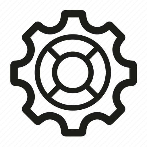 cogwheel, engineering, gear icon