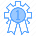 award, file, folder, gear, lock, search, tool icon