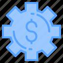 dollar, file, folder, gear, lock, search, tool icon