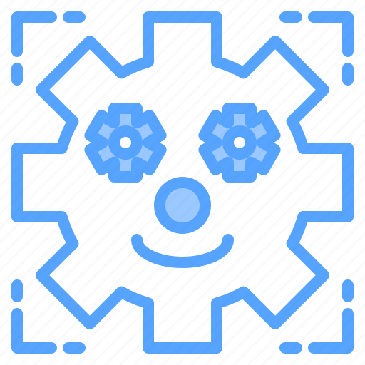 face, file, folder, gear, lock, search, tool icon
