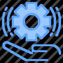 file, folder, gear, hand, lock, search, tool icon
