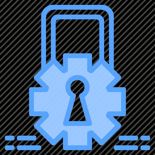electronic, file, folder, gear, lock, search, tool icon