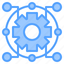 file, folder, gear, lock, network, search, tool icon