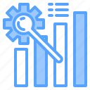 file, folder, gear, graph, lock, search, tool icon