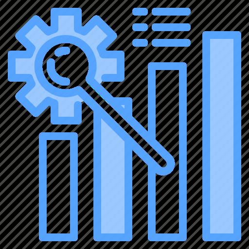 file, folder, gear, graph, lock, search, tool icon