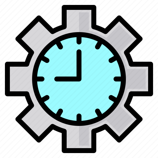 clock, file, folder, gear, lock, search, tool icon
