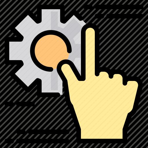 file, folder, gear, gesture, lock, search, tool icon
