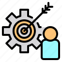 file, folder, gear, people, search, tool, traget icon