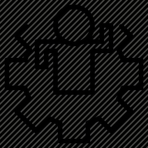 file, folder, gear, lock, people, search, tool icon