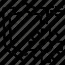 file, folder, gear, lock, search, shield, tool icon