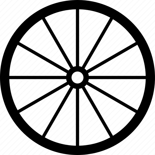 brougham wheel, coach, dray, gharry, oldschool, wagon wheel, wain icon