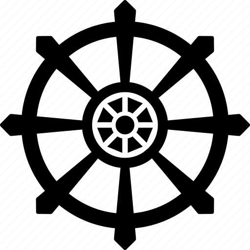 buddha wheel, destiny, dharma, knowledge, religion, wheel icon