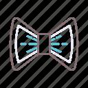 accessories, bowtie, fashion, geek, ribbon icon