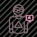 avatar, boy, geek, man icon