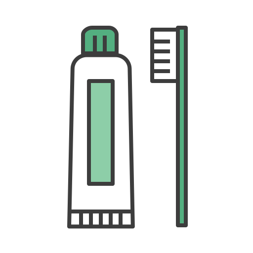 Cleanning, journey, morning, tooth brush, tooth paste, travel icon - Free download