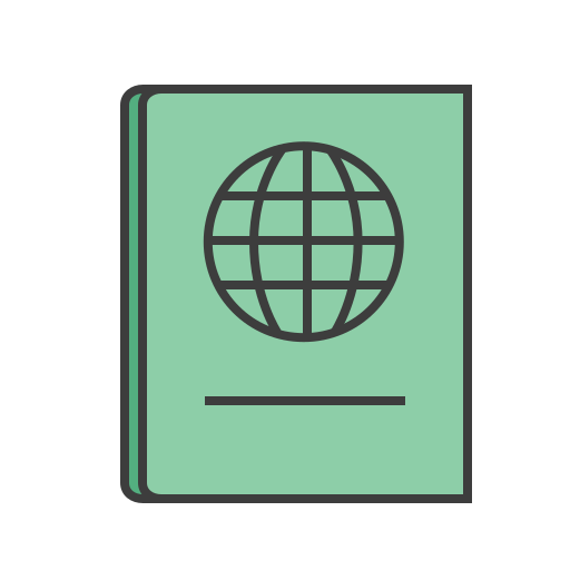 documents, id, journey, pass, passport, travel, vacation icon