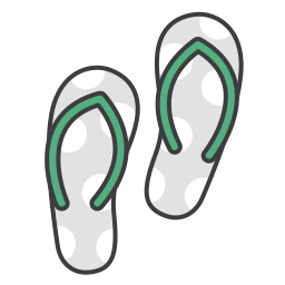 flats, flip flops, journey, sandals, summer, travel, vacation icon
