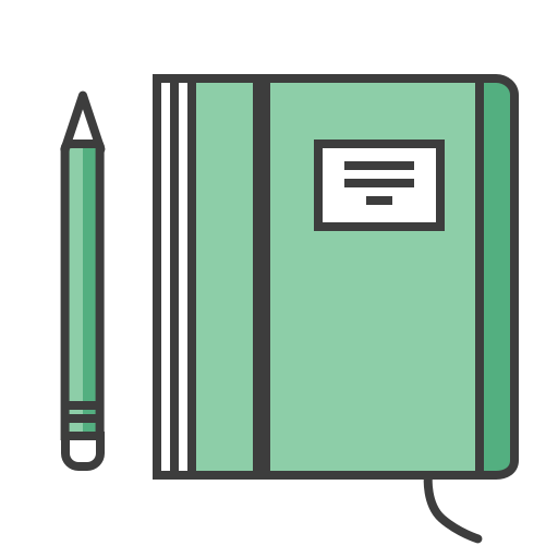 Journey, moleskine, notepad, notes, pencil, travel, write icon - Free download