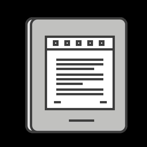ebook, journey, kindle, novel, read, reading, travel icon