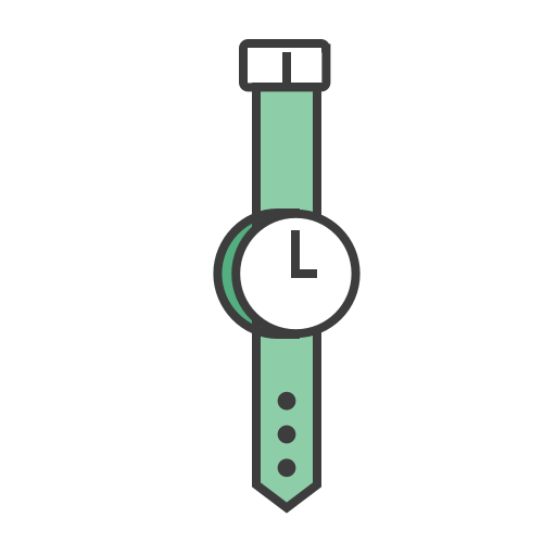 clock, journey, time, timing, travel, watch, wrist icon