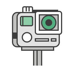 camera, go pro, hero gopro, journey, photo, travel, video icon