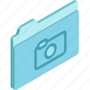 files, photo, folder, photo folder, isometric