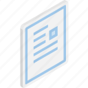 file, files, isometric, microsoft word, word icon