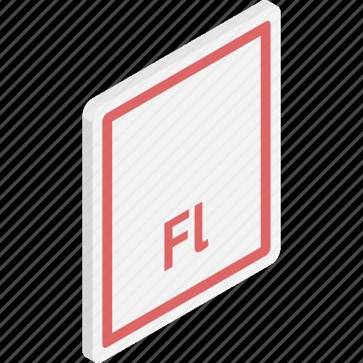 adobe flash, file, files, flash, flash file, isometric icon