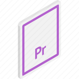 adobe premier, files, isometric, premier, premier file, video, video file icon