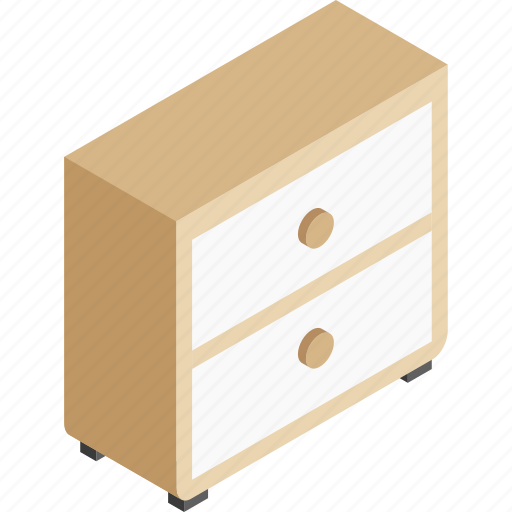 cabinet, drawer, furniture, storage, table icon