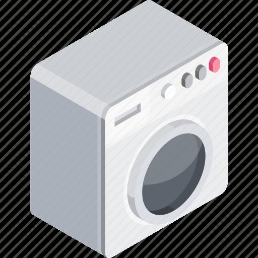 furniture, isometric, washer icon