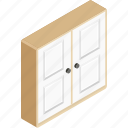 cabinet, closet, drawer, furniture, storage icon