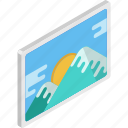 landscape, mountain, painting, photo, pictures icon