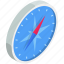 browser, compass, isometric, safari icon