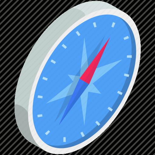 browser, compass, isometric, safari icon